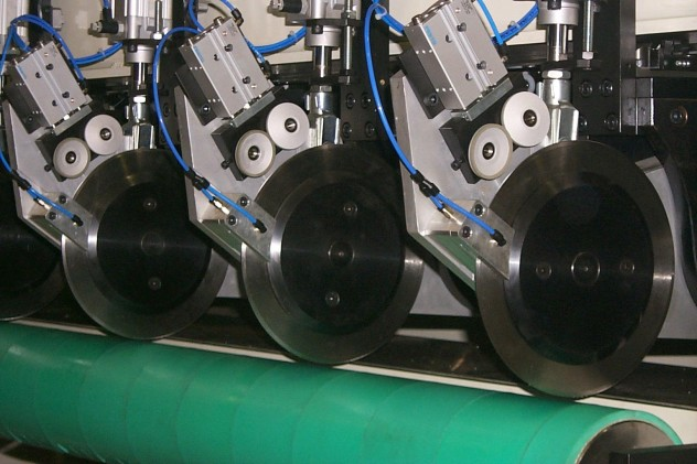 Slitter SCR-2500 detalle cuchillas
